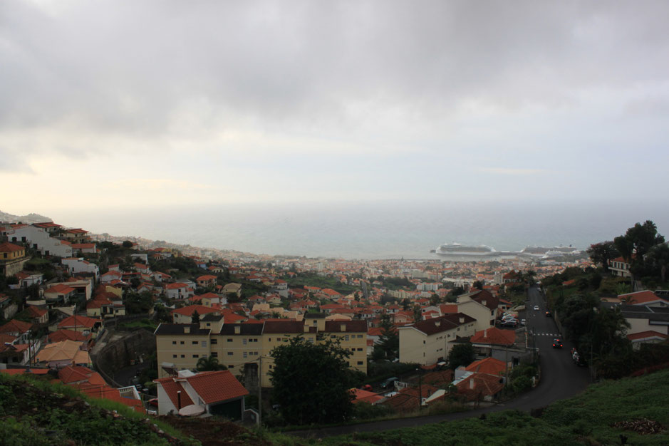 view on Funchal from Monte, Madeira