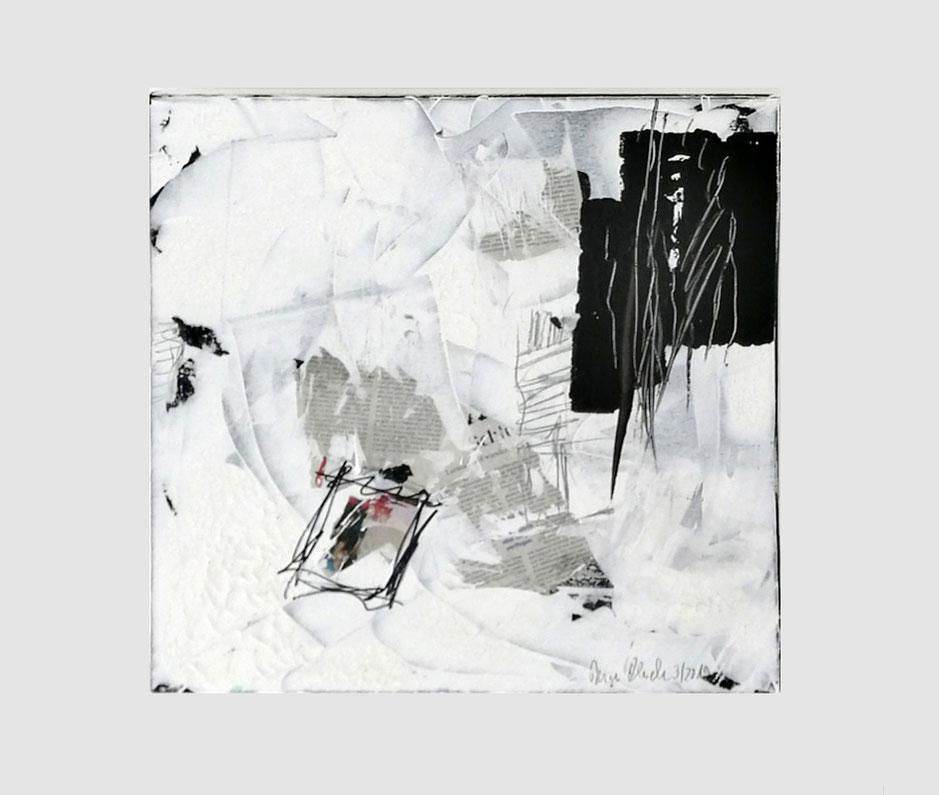 Reiner Olesch, 50 x 50 cm, Collage, Acryl, Druck