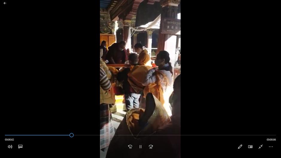 Rinpoché au Temple Jokhang de Lhassa