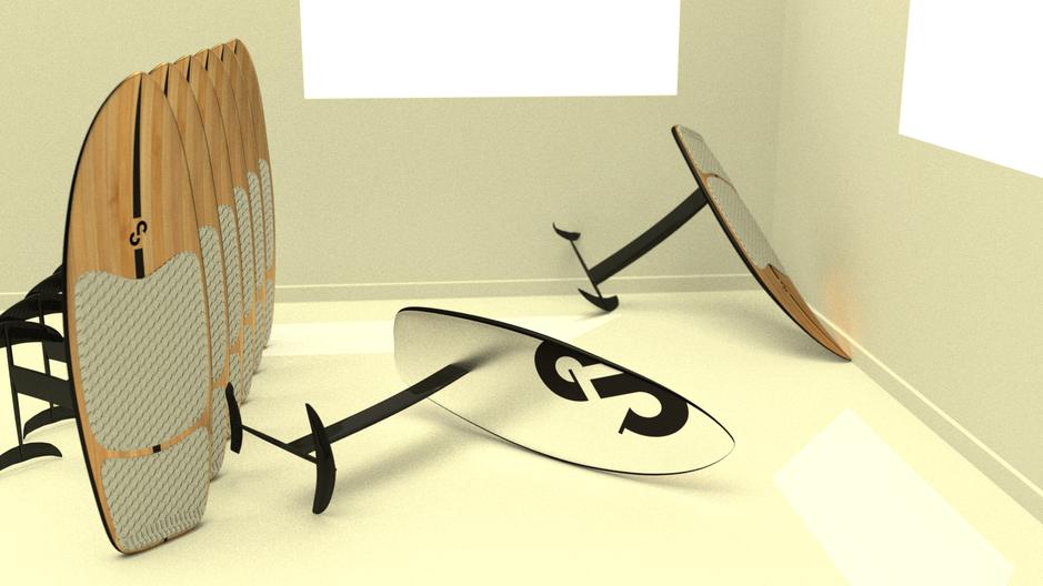 3D rendu réaliste modélisation kite foil