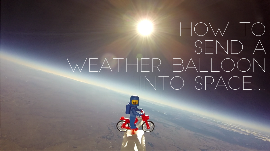 How to send a weather balloon into space.
