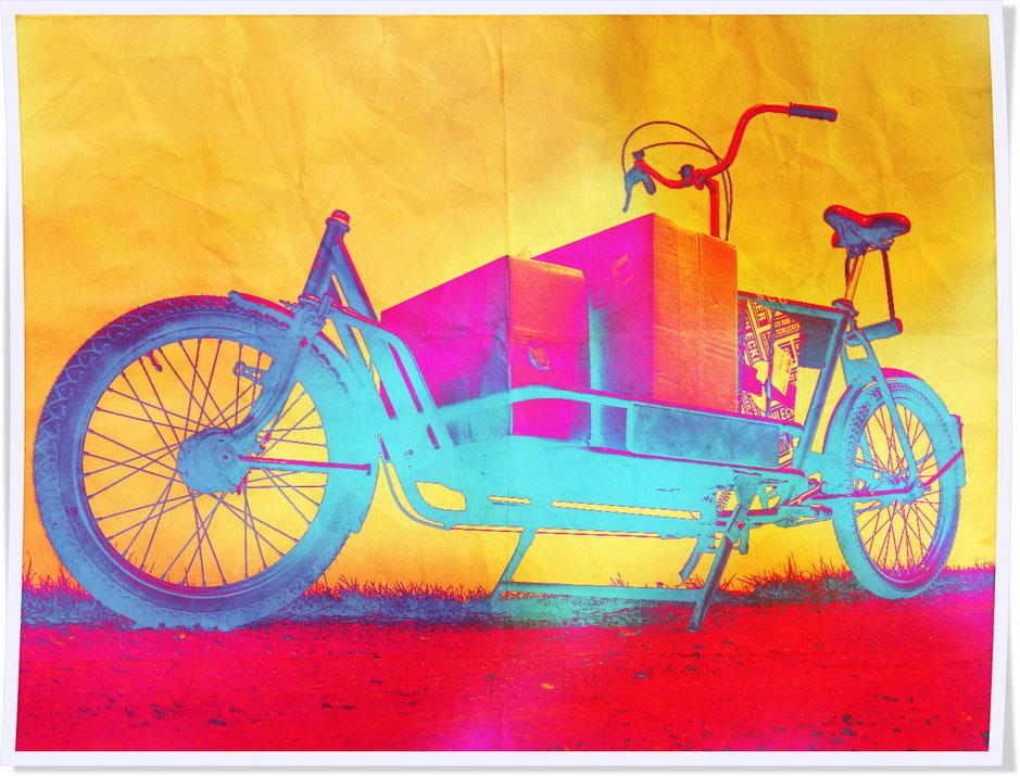 vélo cargo fluo