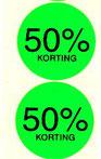 prijsetiketten rond 40 mm fluor ronde korting procenten etiketten kleuren geel groen rood oranje versteden tilburg online bestellen kopen