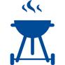 barbecue à disposition jardin grillades déjeuner dîner