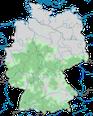 Karte zur Verbreitung der Wasseramseln in Deutschland