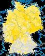 Karte zur Verbreitung des Trauerschnäppers in Deutschland