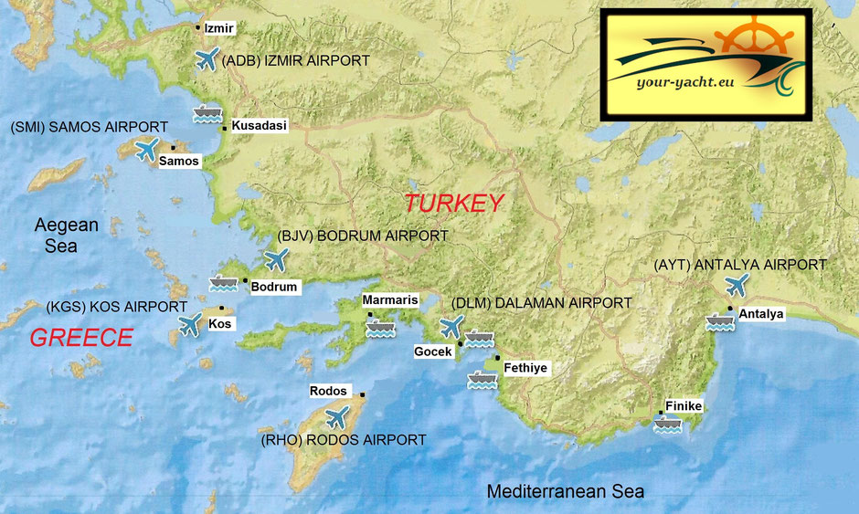 your-yacht.eu map izmir to antalya southern aegean