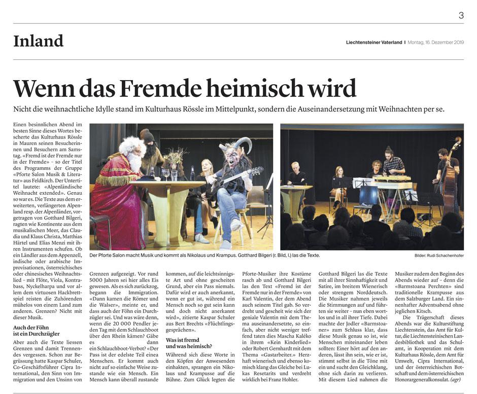 aus dem Liechtensteiner Vaterland | 16.12.2019