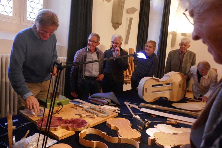 Vereinsausflug zum Geigenbauer Ulrich Becker nach Konstanz im Oktober 2018