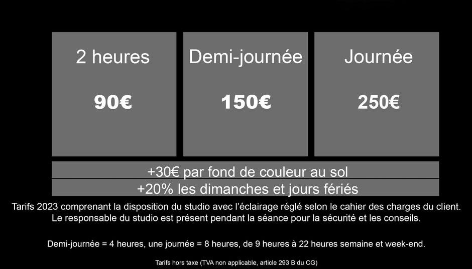 Tarif horaire location studio photo studio de photographie saint-etienne  artstudio5.fr