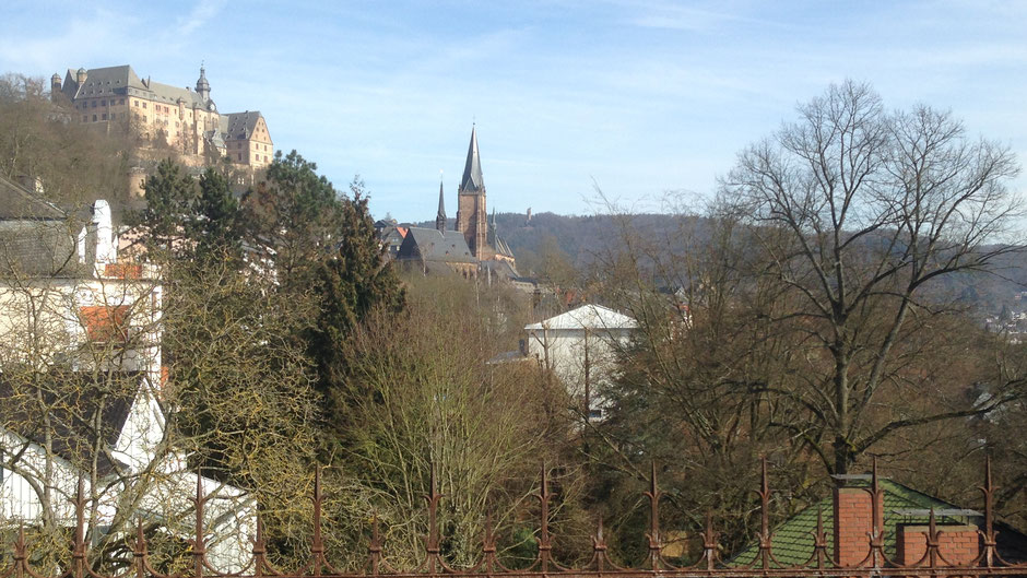 Blick der Dachterrasse in Richtung Landgrafenschloss