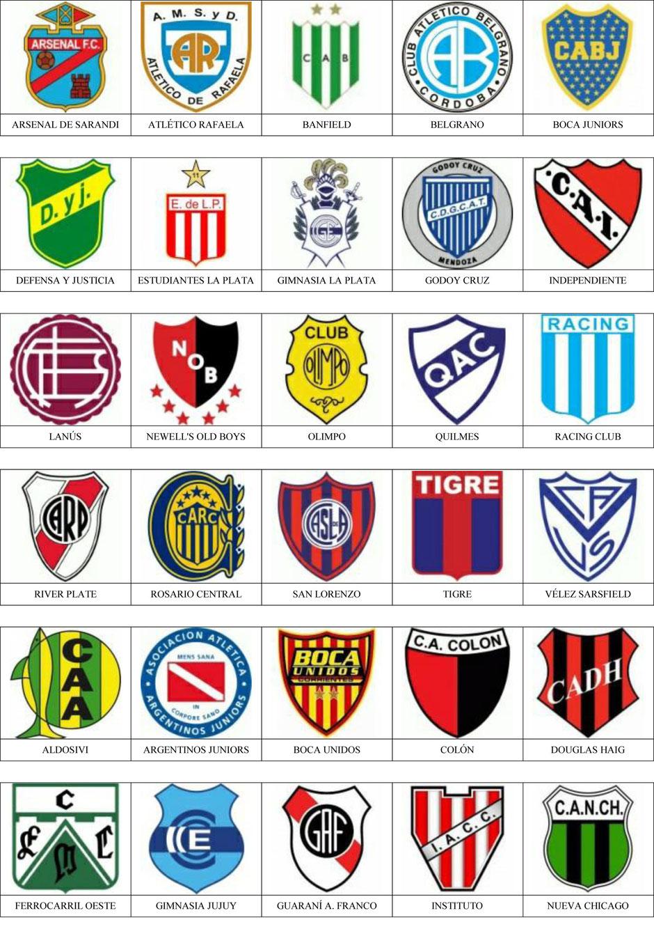 equipos futbol argentina
