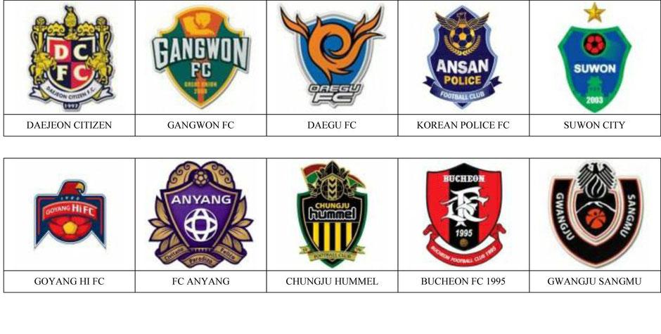 equipos futbol corea del sur