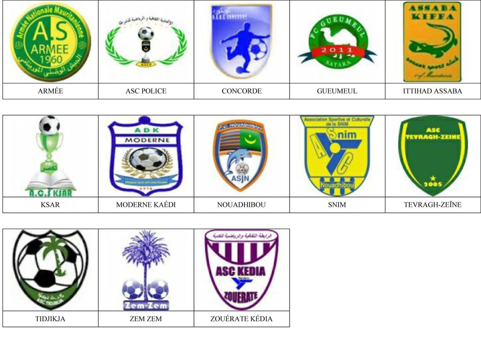 equipos futbol mauritania