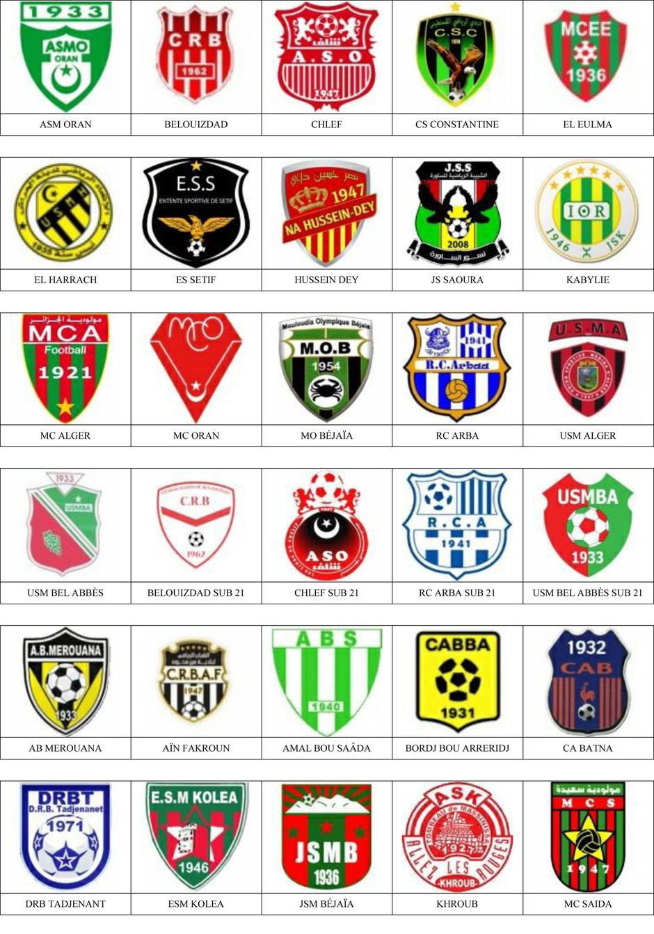 equipos futbol argelia