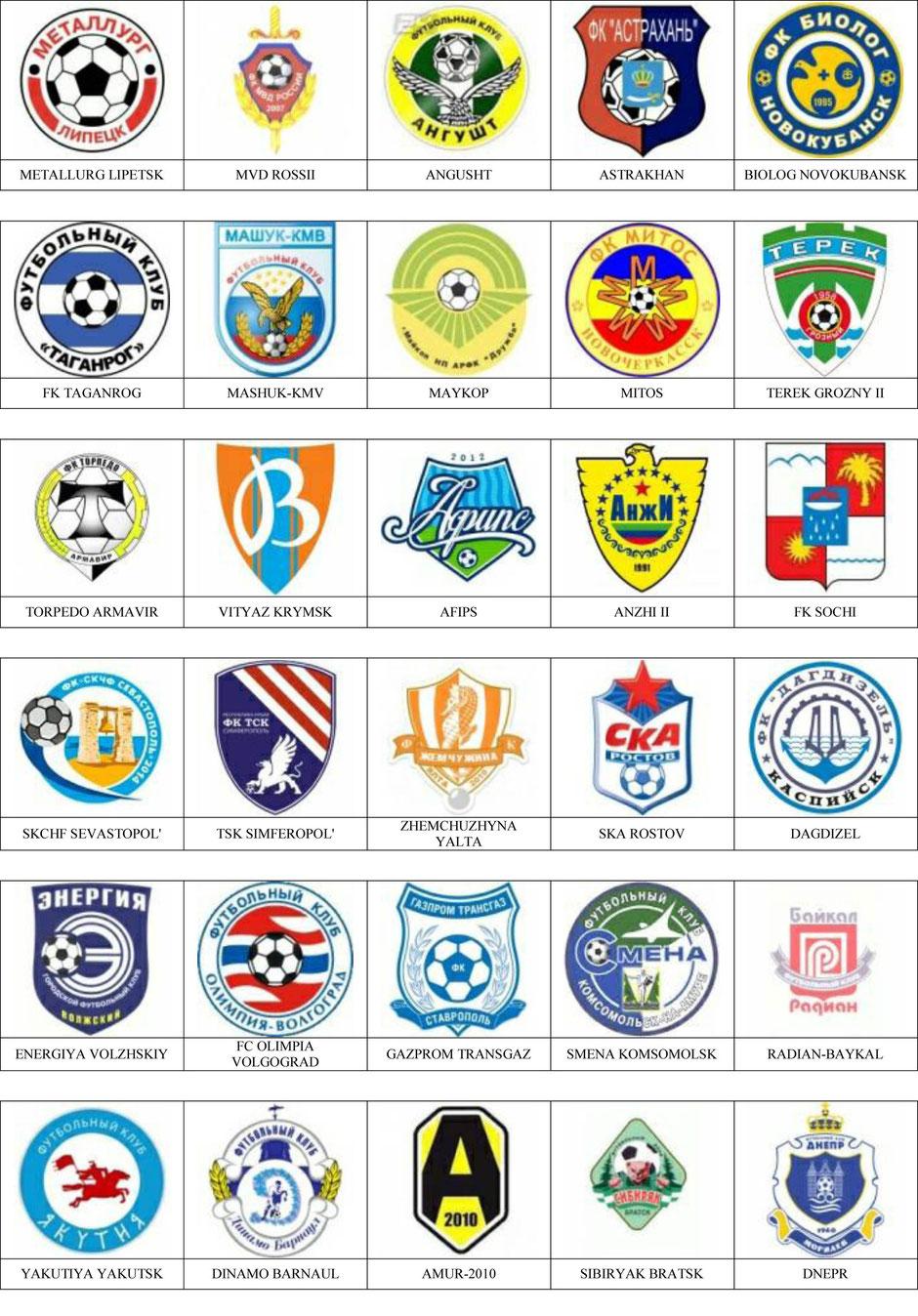 equipos futbol rusia