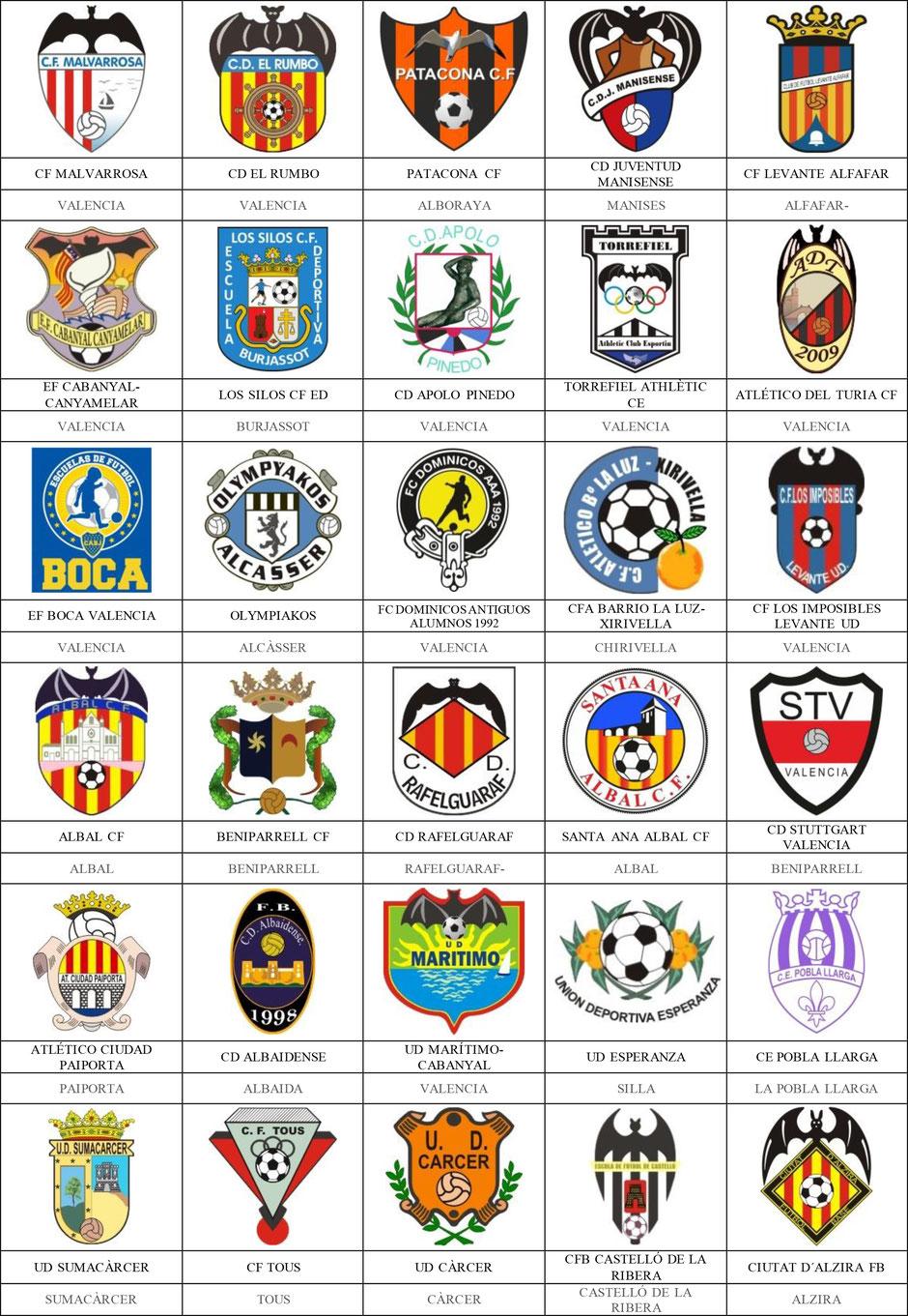 equipos futbol valencia