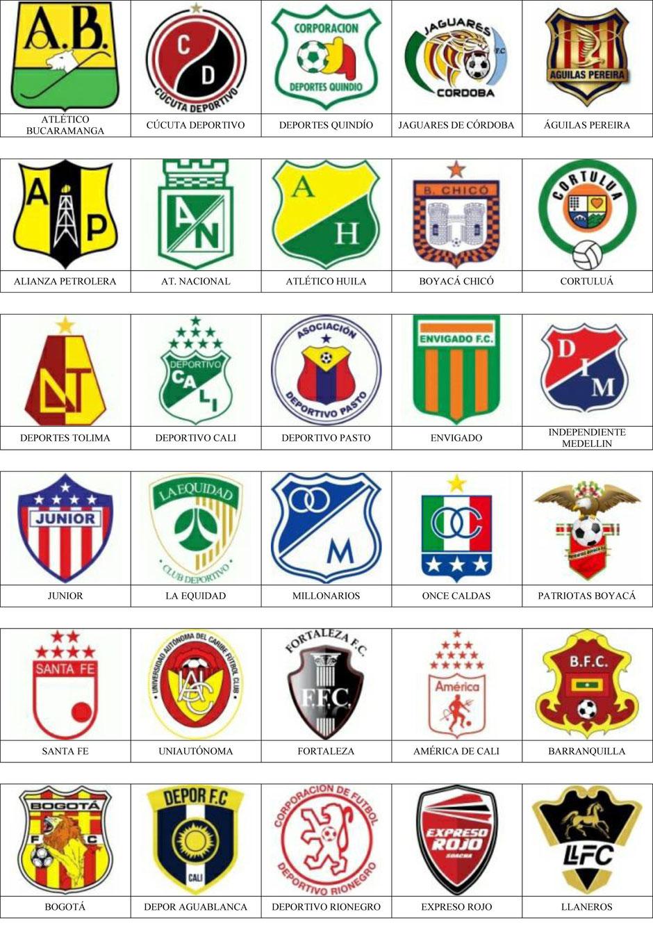 equipos futbol colombia