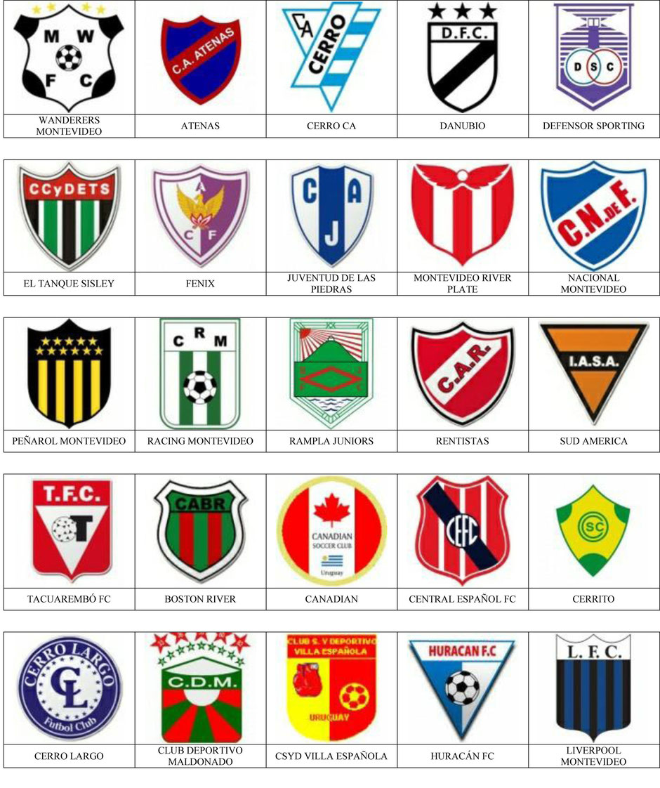 equipos futbol uruguay