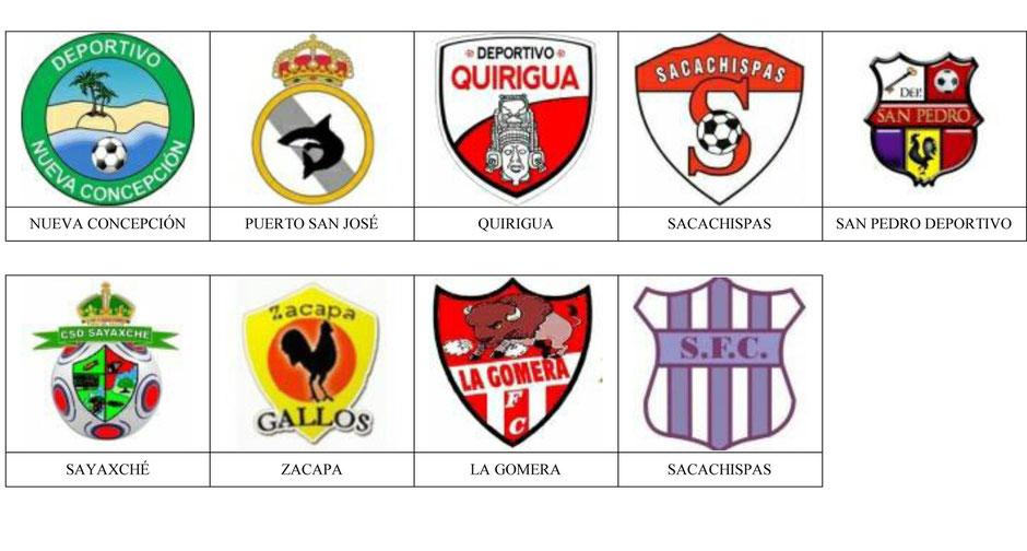 equipos futbol guatemala
