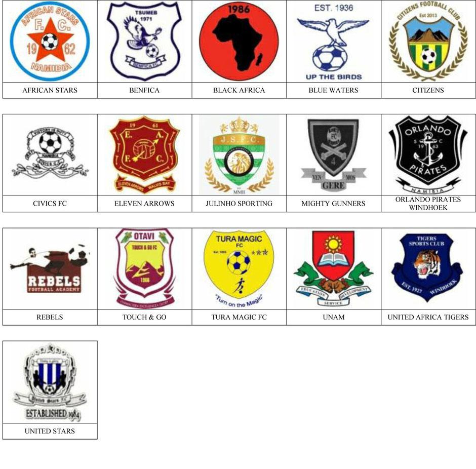 equipos futbol namibia