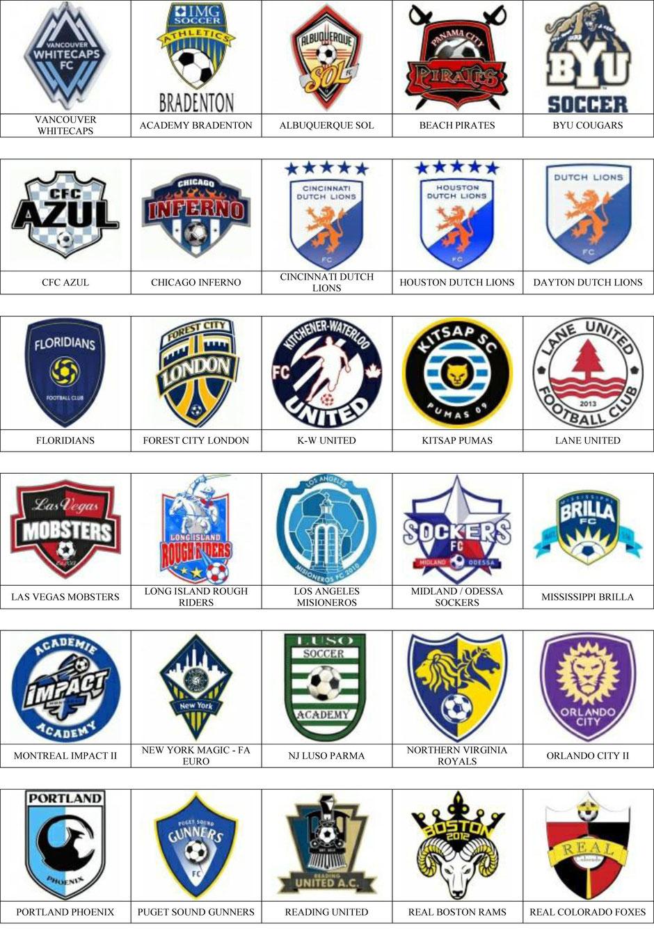equipos futbol estados unidos