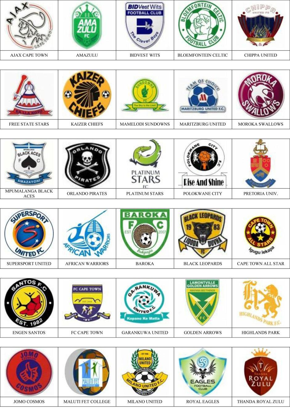 equipos futbol sudafrica