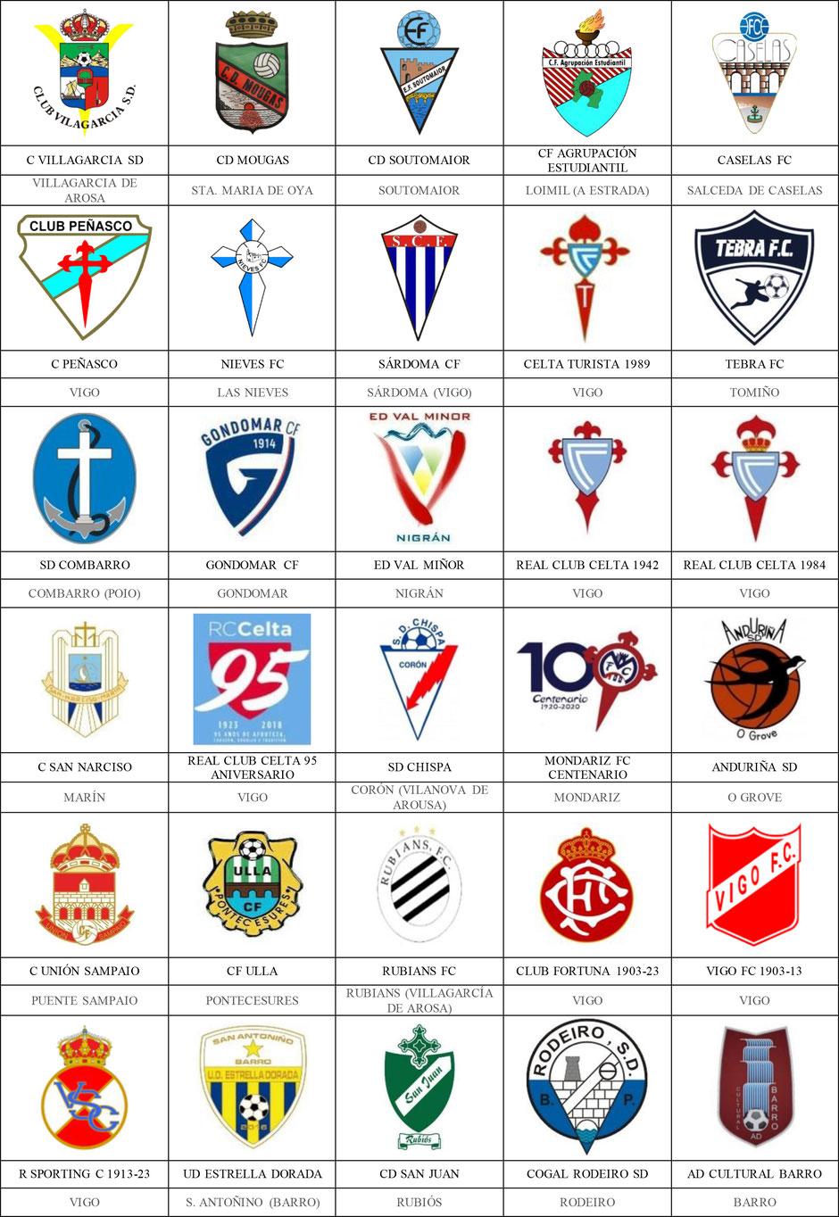 equipos futbol pontevedra