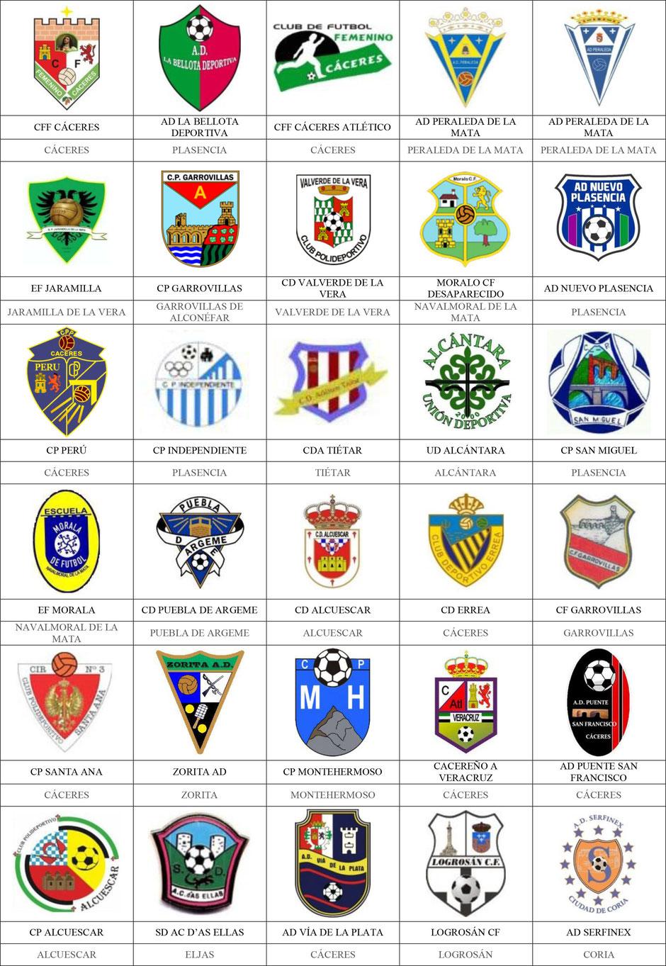 equipos futbol cáceres