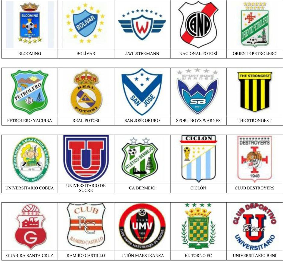 equipos futbol bolivia