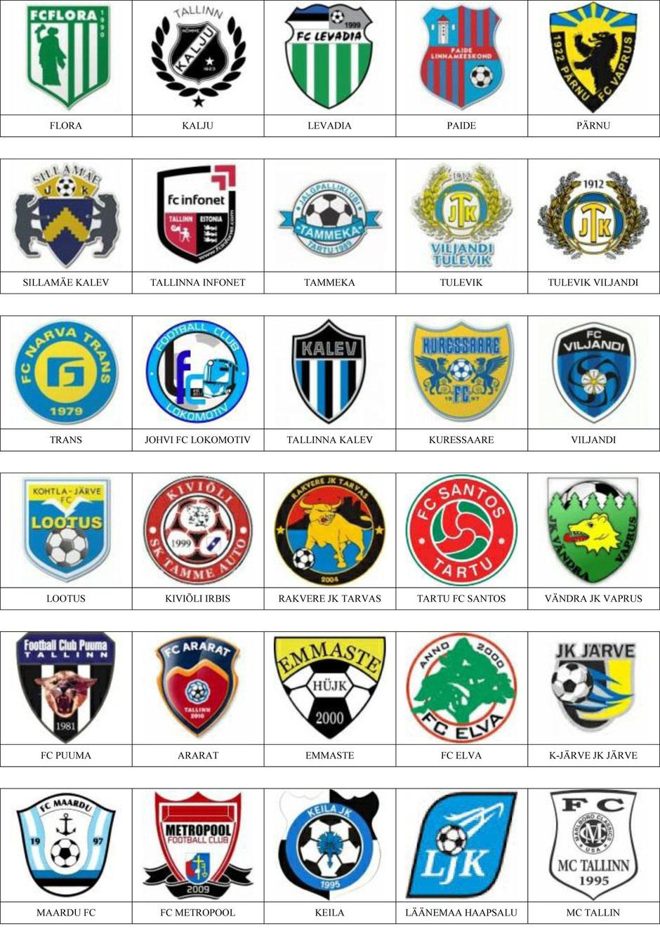 equipos futbol estonia