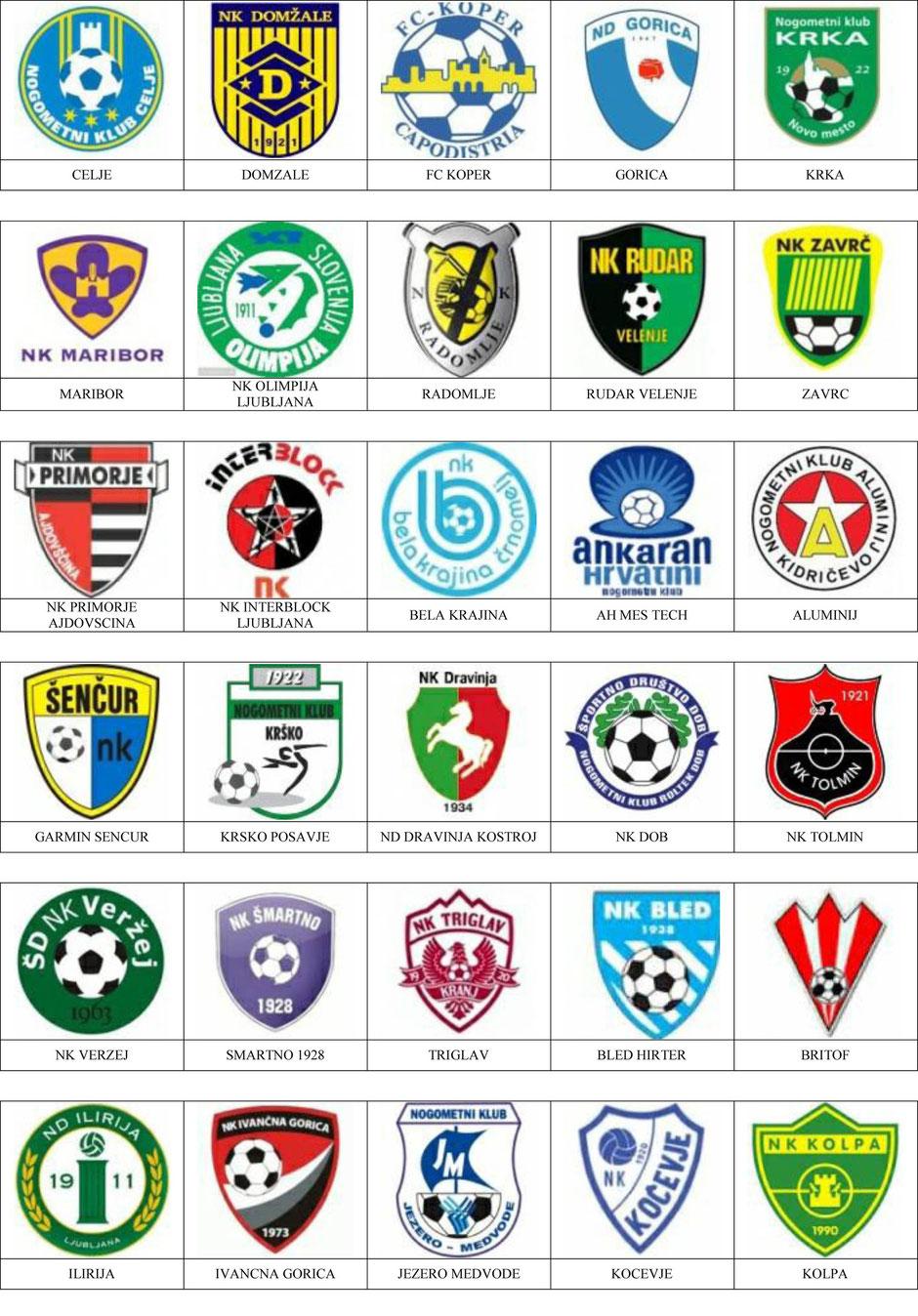 equipos futbol eslovenia