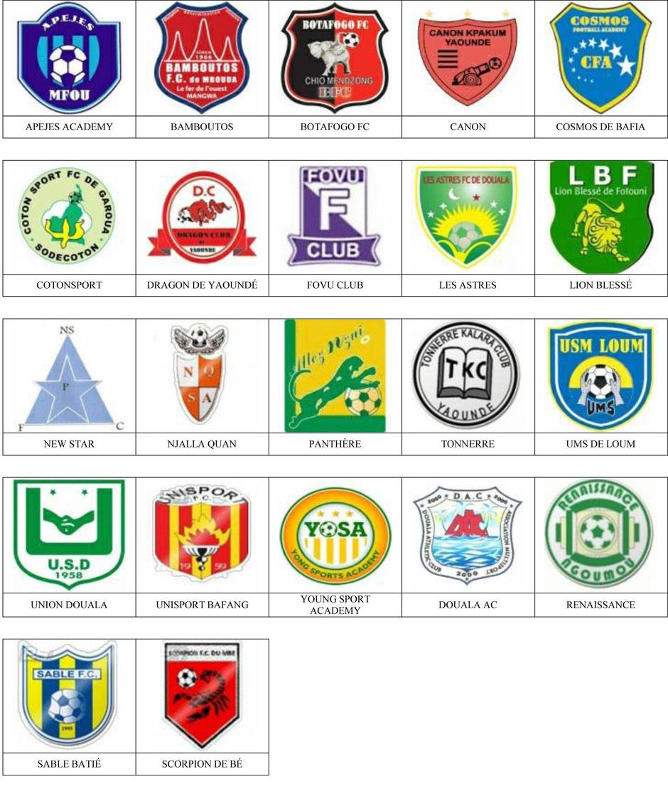 equipos futbol camerun