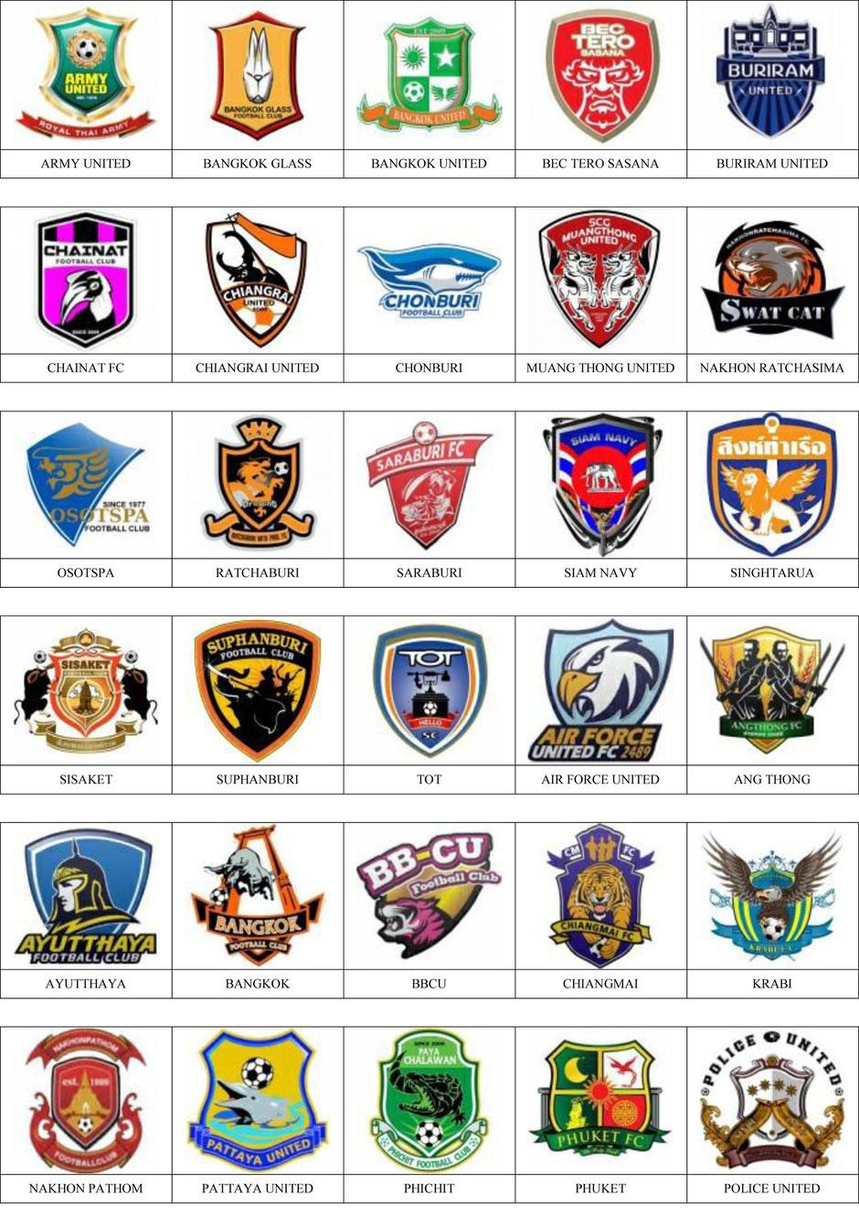 equipos futbol tailandia