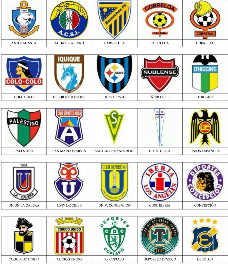 equipos futbol chile