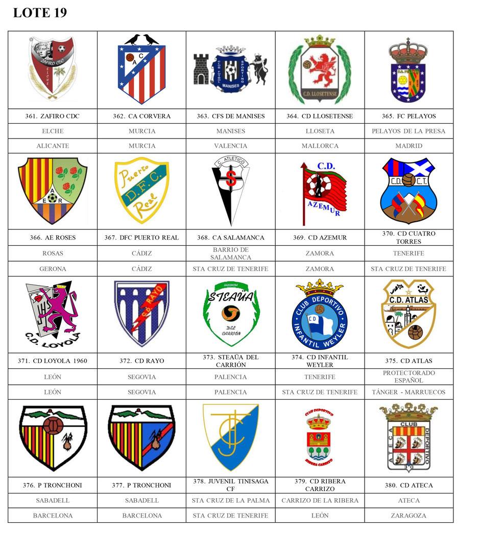 lote pins futbol  www.pinsdefutbol.es
