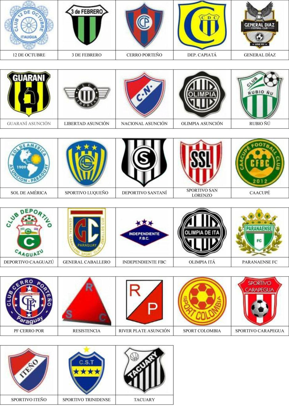 equipos futbol paraguay