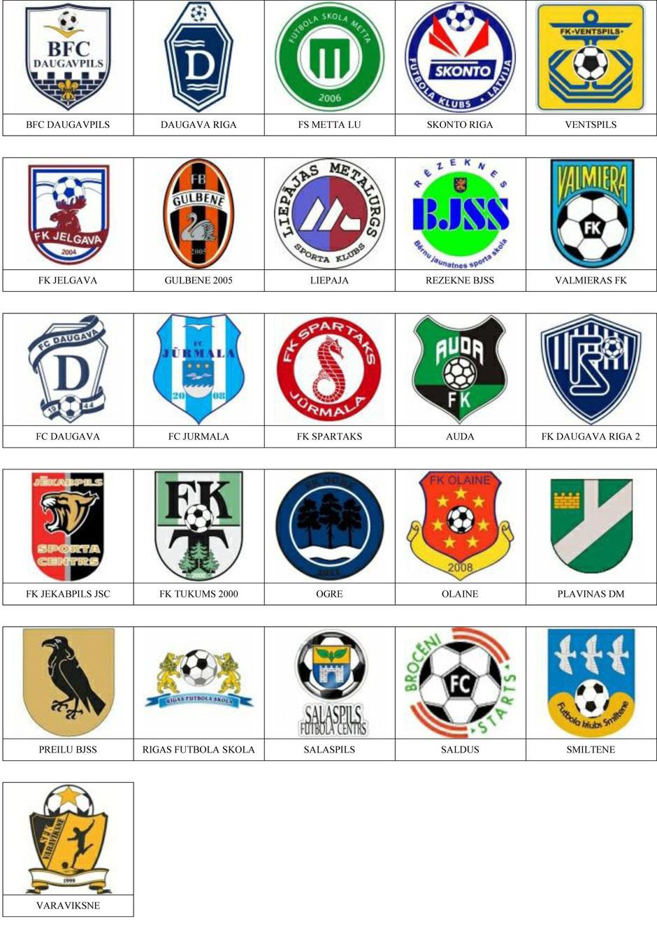 equipos futbol letonia