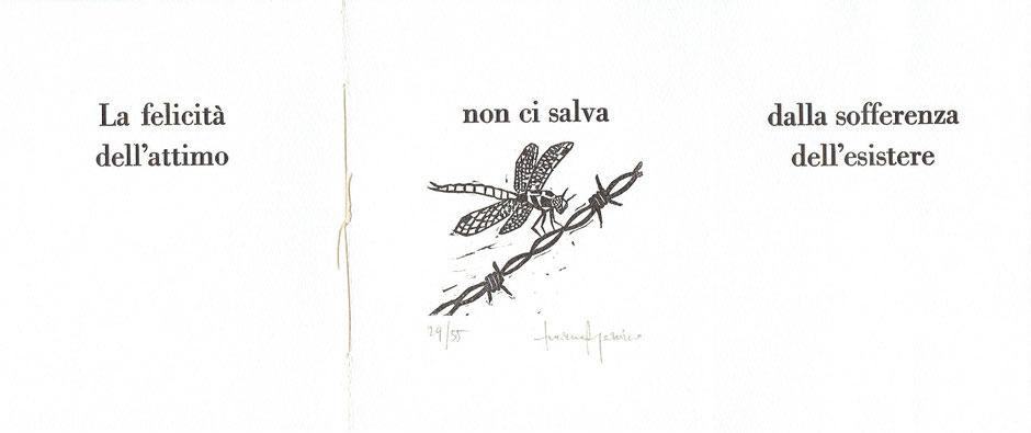 testo dell'autore e linoleografia di Luciano Ragozzino