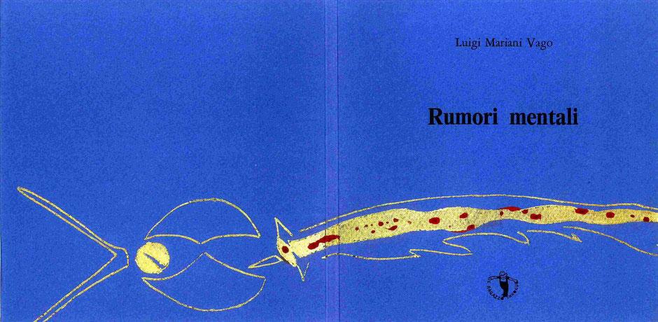 insieme della copertina con stampa tipografica e inteventi e dorature originali dell'autore
