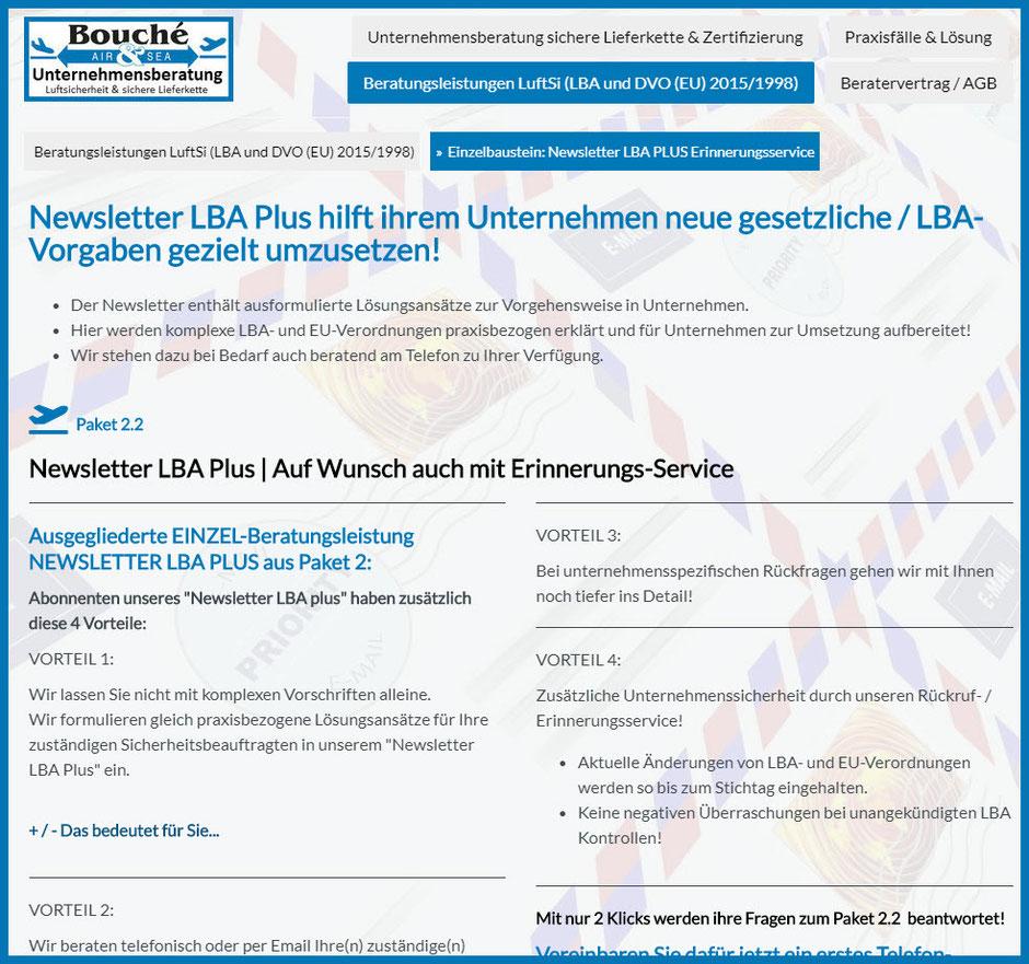 Bild Newsletter LBA Plus: Weiterleitung zur Seite https://www.soforthilfe-status-lba-audit.de/beratungsleistungen-luftsi-lba-und-dvo-eu-2015-1998/einzelbaustein-newsletter-lba-plus-erinnerungsservice/