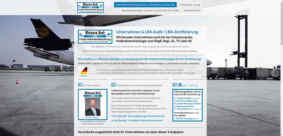 Bild: Startseite auf soforthilfe-status-lba-audit.de