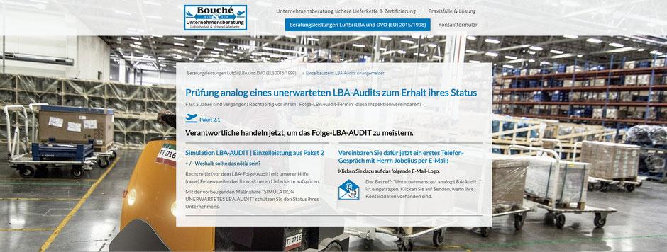 Bild: Folge-LBA-Audit-Termin steht nach fast 5 Jahren an? Einzel-Beraterpaket 2.1: Prüfung analog eines unerwarteten LBA-Audits | Stand 28.03.2020