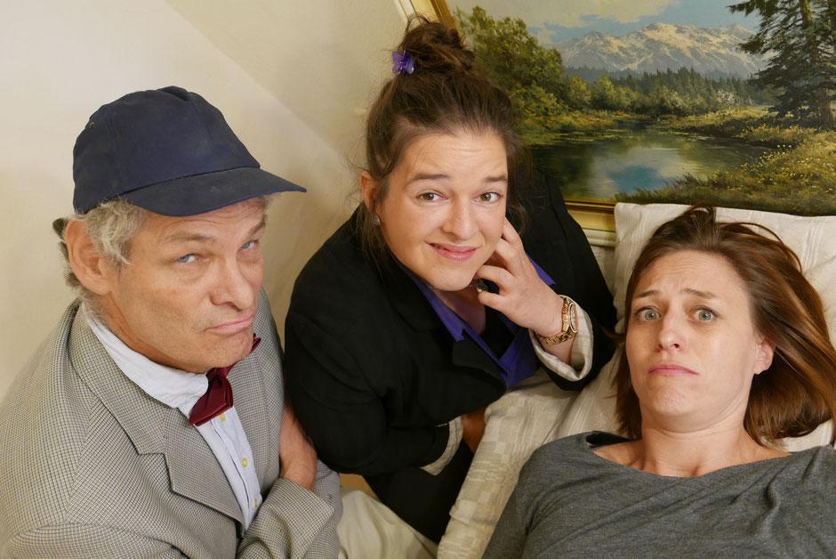 Münchner Helden*Theater / Anthony, Claire und Christine aus Rausch der Verwandlung