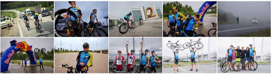 Wind, Weite, Schlaglöcher, Geröll, Regen: Temmen und Fischer gewannen mit radroo Teambekleidung  das Red Bull Trans-Sibirian Extreme