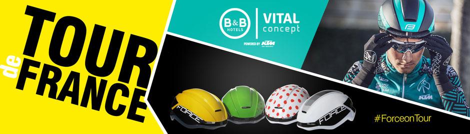 Das Profi-Team B&B Hotels-Vital Concept gehört zu den UCI Pro Teams, das dieses Jahr an der TOUR DE FRANCE teilnimmt !