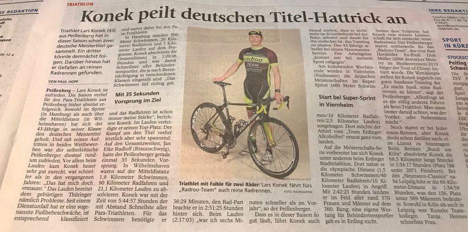 > radrooTEAM Fahrer Lars Konek hat diese Saison bereits 2 Deutsche Meister Titel errungen. Ein 3ter könnte demnächst folgen. <
