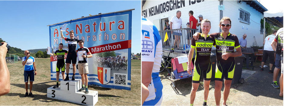 > Die beiden TEAM Fahrer Aaron Bezela & Christoph Blum erfolgreich beim 10. Ars Natura MTB Marathon.<
