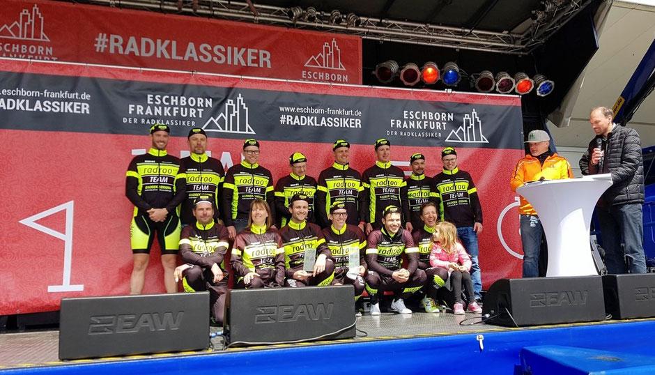 Beim Radklassiker Eschborn-Frankfurt an den Erfolg in Göttingen angeknüpft!  2ter in der Teamwertung über 90km und 1ter und damit Titelverteidigung über 50km.