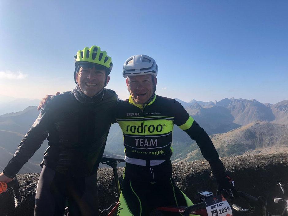 radrooTEAM Fahrer Dr. Frank Schmähling bei einem der anspruchsvollsten Etappenrennen der Welt. Haute Route Alps 2019